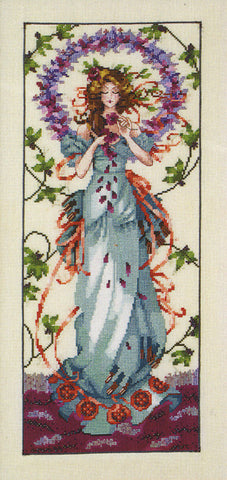 Mirabilia Blossom Goddess MD-146 victorian cross stitch