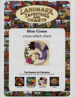 Lankmark Blue Crane cross stitch pattern
