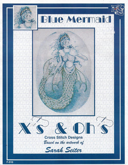 X's & Oh's Blue Mermaid cross stitch pattern