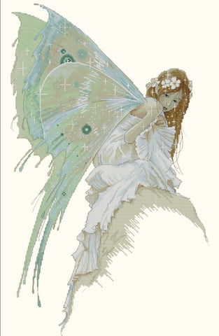 Lena Lawson Bluebell Fairy by Jean-Baptiste Monge cross stitch pattern