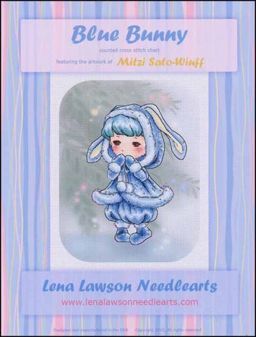 Lena Lawson Blue Bunny cross stitch pattern