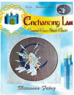 Enchanting Lair Bluemoon Fairy EL-27 fantasy cross stitch pattern