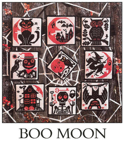Prairie Schooler Boo Moon Halloween cross stitch pattern