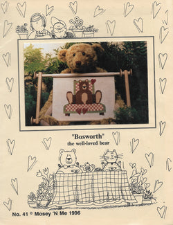 Mosey 'N Me Bosworth the well loved bear cross stitch pattern