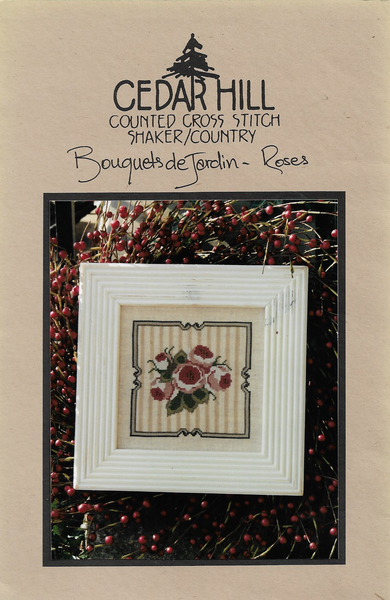 Cedar Hill Bouquets de Jardin - Roses cross stitch pattern