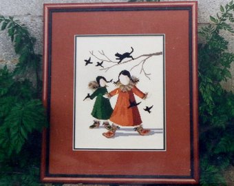 Diane Graebner Break-up celebration DG-25 Amish cross stitch pattern