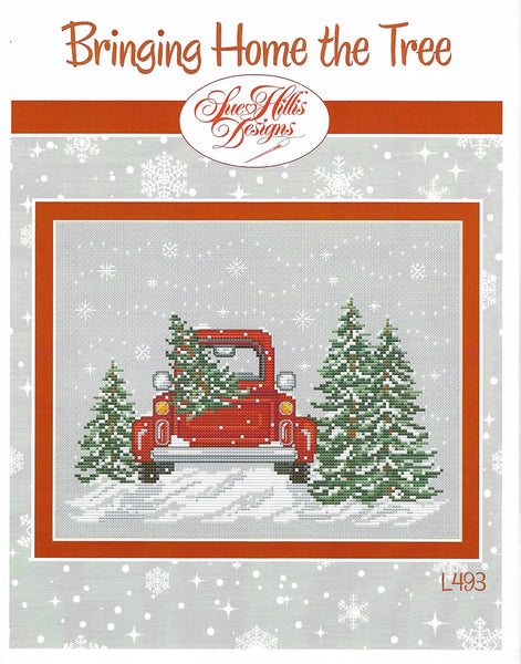 Sue Hillis Bringing home the tree L493 cross stitch pattern