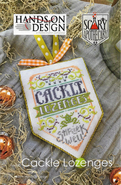Hands on Design cackle Lozenges Scary Apothecary halloween cross stitch pattern