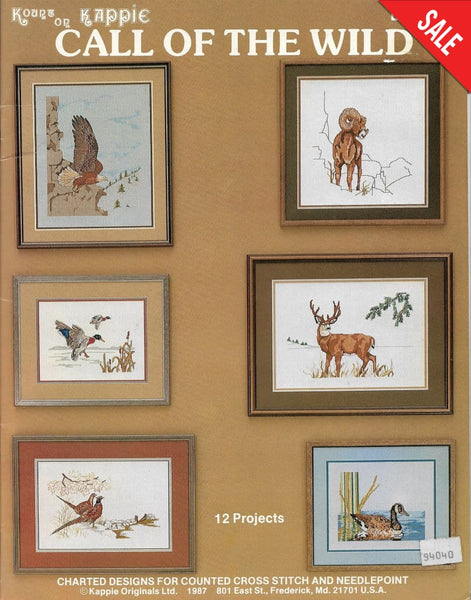 Kount on Kappie Call of the Wild book 85 animal cross stitch pattern