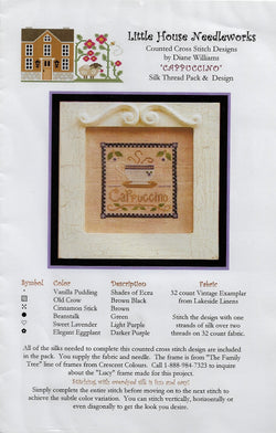 Little House Needleworks Cappuccino cross stitch pattern