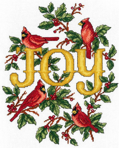 Imaginating Cardinals Joy 3105 cross stitch pattern
