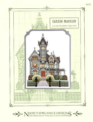 Nancy Spruance Designs Carson Mansion cross stitch pattern
