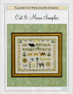 Elizabeth's Designs Cat & Mouse Sampler cross stitch pattern