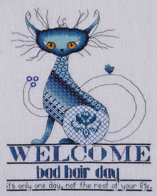 MarNic Bad Hair Day cats 2015-23 cross stitch pattern