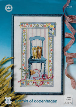 Permin of Copenhagen Cats cross stitch pattern