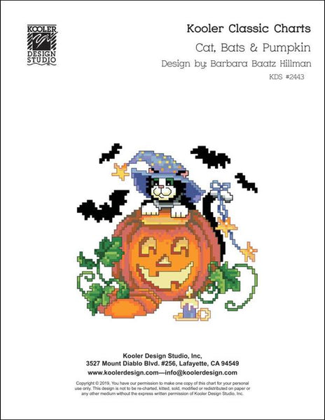 Kooler Studios Cats, Bats, & Pumpkins Halloween cross stitch pattern