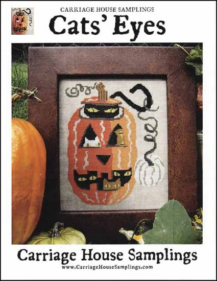 Carriage House Cats' Eyes halloween cross stich pattern