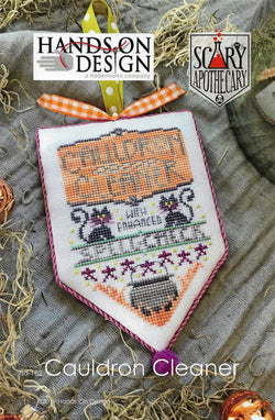 Hands on Design Cauldron Cleaner Scary Apothecary halloween cross stitch pattern