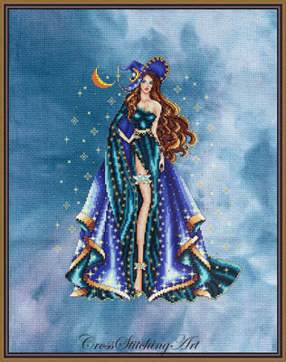 Cross Stitching Art Celeste halloween pagan witch cross stitch pattern