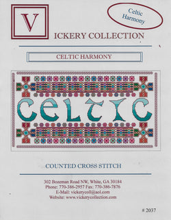 Vickery Collection Celtic Harmony cross stitch pattern