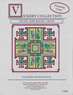 Vickery Collection Celtic Jerusalem Cross cross stitch pattern