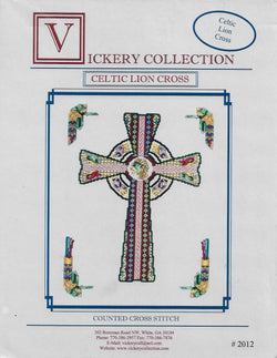 Vickery Collection Celtic Lion Cross cross stitch pattern