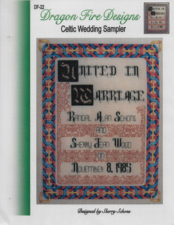 Dragon Fire Designs Celtic Wedding Sampler cross stitch pattern