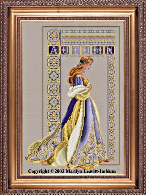 Lavender and Lace Celtic Autumn L&L58 Marilyn Leavitt-Imblum victorian cross stitch pattern