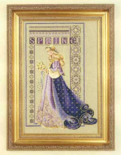 Lavender and Lace Celtic Spring L&L50 Marilyn Leavitt-Imblum victorian cross stitch pattern