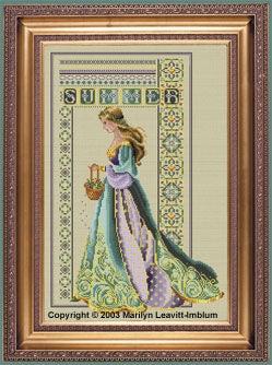 Lavender and Lace Celtic Summer L&L56 Marilyn Leavitt-Imblum victorian cross stitch pattern