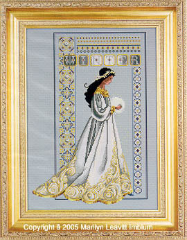 Lavender and Lace Celtic Winter L&L60 Marilyn Leavitt-Imblum victorian cross stitch pattern