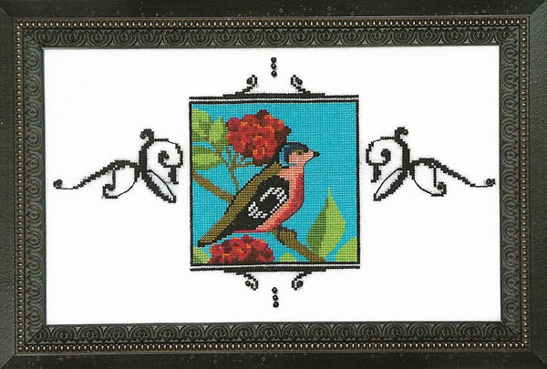 Mirabilia Blossom Chaffinch NC183 bird victorian cross stitch