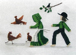 Diane Graebner Chicken Chasin' DGX-154 cross stitch pattern
