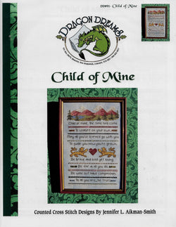 Dragon Dreams Child of Mine cross stitch pattern
