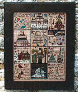 Carriage House Samplings Christmas at Hawk Run Hollow cross stitch pattern