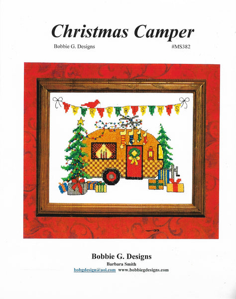 Bobbie G. Christmas Camper MS382 camping/RV cross stitch pattern