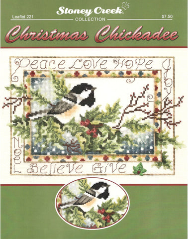 Stoney Creek Christmas Chickadee LFT221 cross stitch pattern