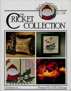 Cricket Collection Christmas Is.. Santa cross stitch pattern
