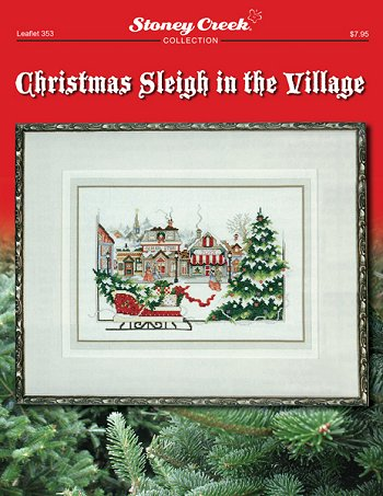 Stoney Creek Christmas Sleigh in the Village LFT353 cross stitch pattern