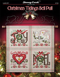 Stoney Creek Christmas Tidings Bellpull LFT267 cross stitch pattern