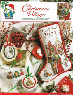 True Colors Christmas Village stocking BCL-10043 cross stitch pattern