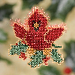 Mill Hill Christmas Cardinal beaded cross stitch kit MH18-7303