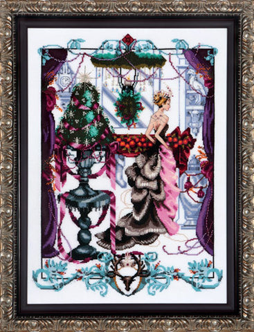 Mirabilia Christmas In London Nora Corbett MD-136 cross stitch pattern