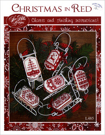 Sue Hillis Christmas in Red L485 cross stitch pattern