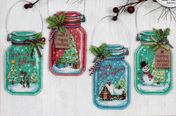 Dimensions Christmas Jar Ornaments cross stitch kit