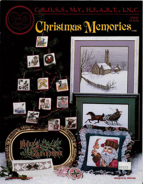 Cross My Heart Christmas Memories ornament cross stitch pattern