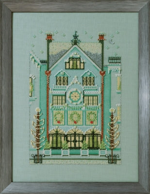 Nora Corbett Mirabilis The Clockmaker's House NC284cross stitch pattern