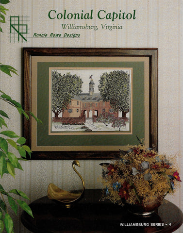 Ronnie Rowe Designs Colonial Capitol cross stitch pattern