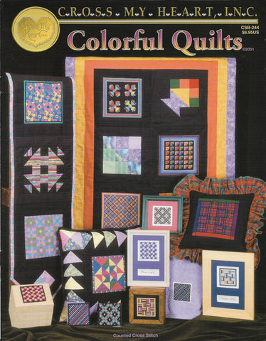 Cross My Heart Colorful Quilts CSB-244 cross stitch pattern