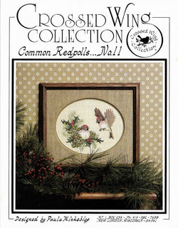 Crossed Wings Common Redpolls no 11 cross stitch pattern
